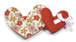 Two heart red clip