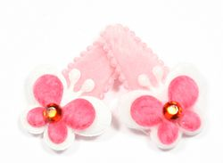 Fluffy butterfly snap clip in hot pink