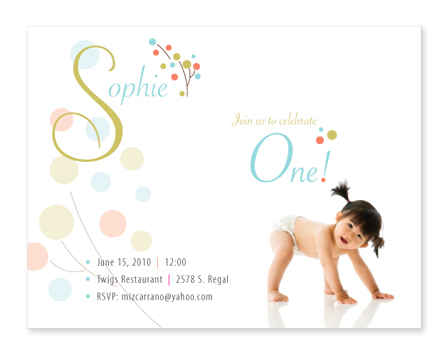 Baby Korean American Baby Baby 1st Birthday Invites