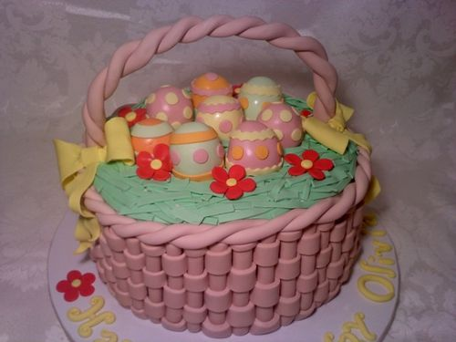 Easter basket cake cakes by christine nyc kids korean american 0403001051 0403001052 negle Gallery