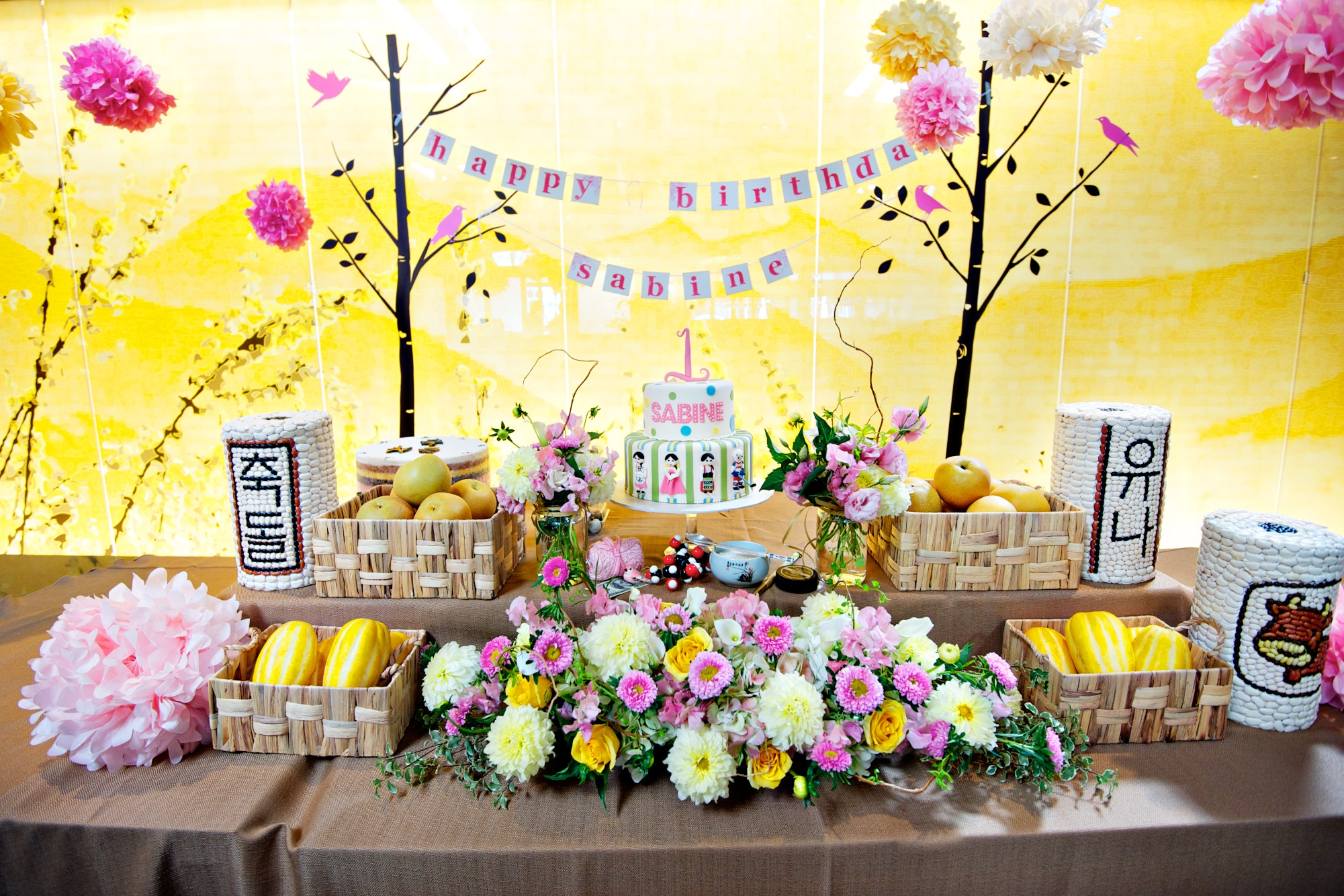 Korean Themed Party Decorations Baby Dol First Birthday Event Planner