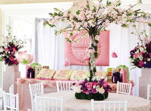 Cultural-first-birthday-celebration-pink-centerpieces-3