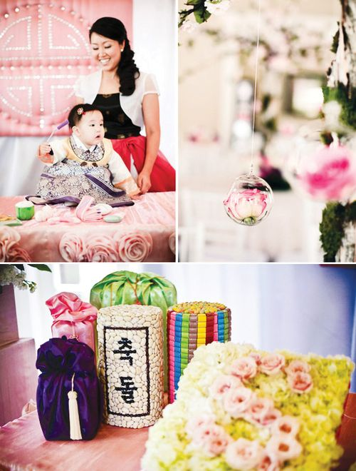 Cultural-first-birthday-celebration-pink-flowers-ceremony-12