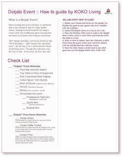 KOKO LIVING Dol Planner Checklist - page 2